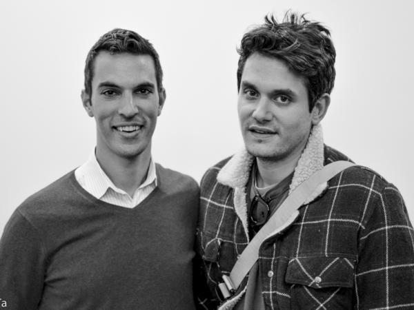NPR Correspondent Ari Shapiro and John Mayer get chummy outside of the green room at the NPR Headquarters.