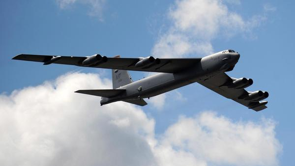 Two U.S. B-52s, like the one shown here, have flown through an area that China says is within its air defense zone. China's announcement has irked its neighbors and the U.S. and Japan say they won't abide by it.