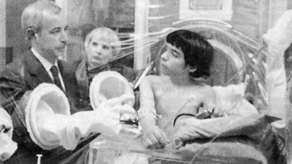 David Vetter was born without a functioning immune system and spent his life in a bubble that protected him from germs. He died at age 12 in 1984. Scientists are using gene therapy to treat the disorder so that children can live normally.