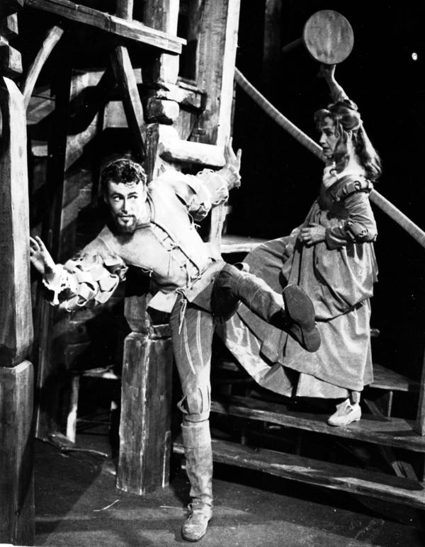 O'Toole started on the stage in London. In 1960, he starred as Petruchio, with Peggy Ashcroft as Katherine, in Shakespeare's <em>The Taming of the Shrew,</em> at the Memorial Theatre in Stratford-upon-Avon, England.