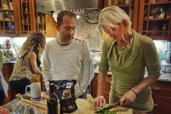 """""""Food is a core component of what we do, and it's a really easy way to unite people,"""" Jessy Schingler (right) says of the co-living home she co-founded in San Francisco."""