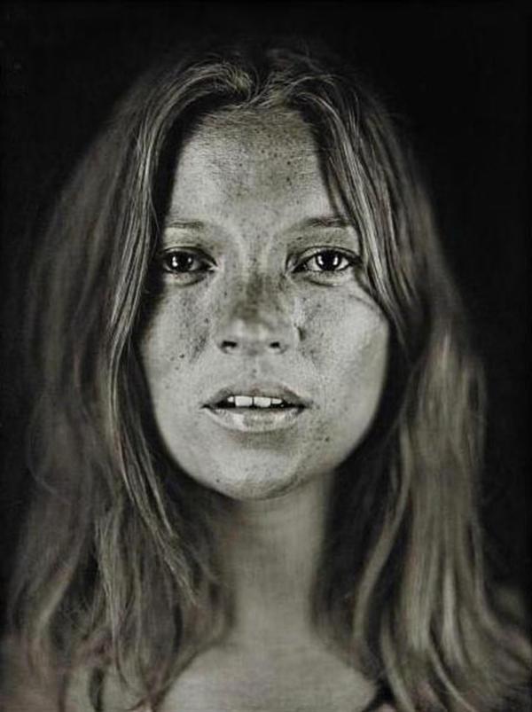 <em>Untitled (Kate #18)</em> by Chuck Close.