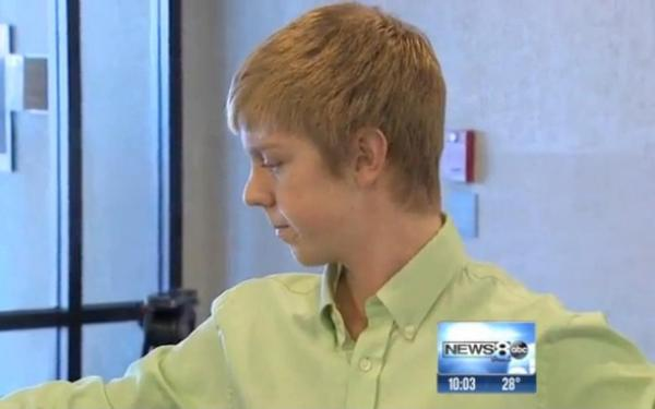 Ethan Couch, 16, was sentenced to 10 years probation after admitting to driving drunk in a crash that killed four people and injured several others. (Screenshot from WFAA-TV video)