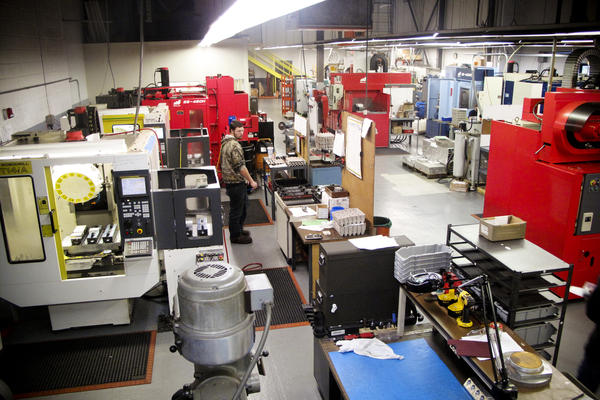 Unlike the smoky, eardrum-damaging factories of yesterday, today's manufacturing is going high-tech. That can mean more robots and automated machines than workers. But companies like Machine Inc. in Stoughton, Mass., are still growing and hiring.