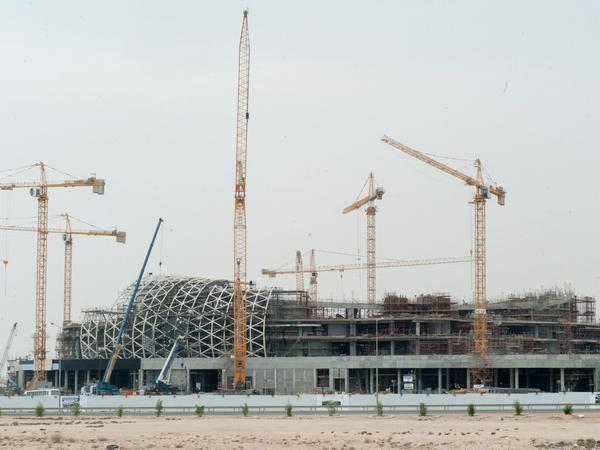 The Lusail Multipurpose Sports Hall, which is under construction in Doha, will be used for the 2022 World Cup. Qatar has come under criticism for its treatment of foreign workers, who far outnumber the Qatari population.