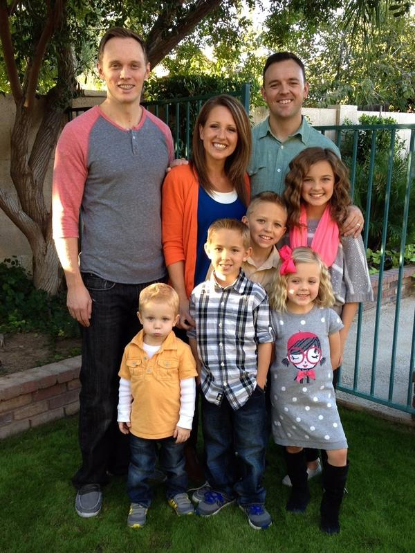 Jamison Manwaring's brother Jonathan (right) and Jonathan's wife, Rachel, have become advocates for gay Mormons since Jamison came out.