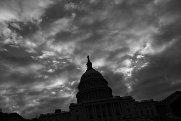 The Capitol in Washington, D.C., seen on a cloudy day two weeks into the partial government shutdown.