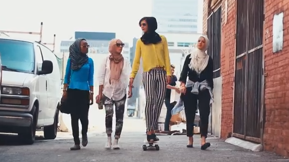 """The YouTube video """"Somewhere in America,"""" featuring diverse Muslim women wearing hijab, immediately sparked strong reactions — both positive and negative."""