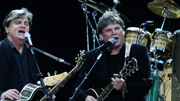 The Everly Brothers, Phil (left) and Don, perform in 2004 in London.