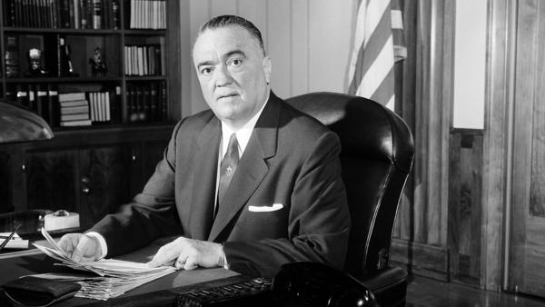 FBI director J. Edgar Hoover is seen in his Washington office, May 20, 1963. The 1971 burglary of one of the bureau's offices revealed the agency's domestic surveillance program.