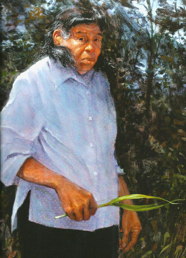 A portrait of Emily Johnson Dickerson by artist Mike Larsen.