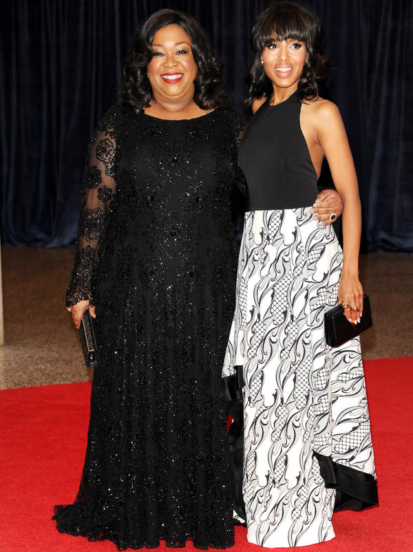 Screenwriter Shonda Rhimes, left, and actress Kerry Washington are hot in Hollywood due to the success of the TV show <em>Scandal</em>.