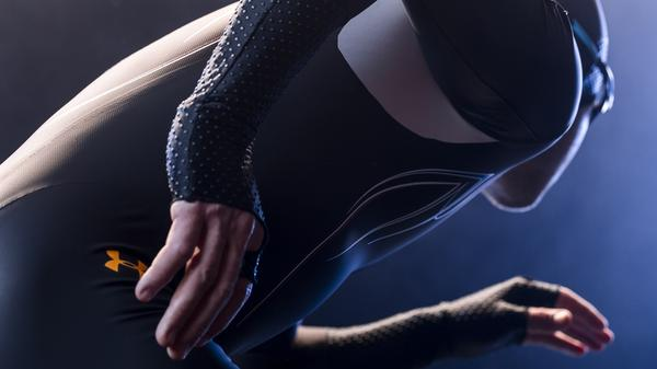 """Mach 39"" is the result of a partnership between Under Armour and Lockheed Martin to create the most aerodynamic speedskating suit for the U.S. Olympic team."