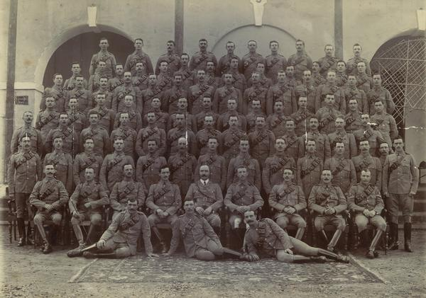 The British National Archives has digitized and posted online about 1.5 million pages of diaries from soldiers and units that fought in World War I. Here, a photo of the 12th (Prince of Wales') Lancers Group.