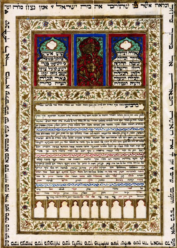 A Jewish marriage contract from Mashhad, Iran, in the 17th century