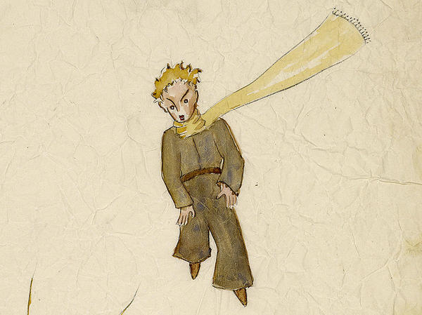 A detail of a drawing from The Little Prince by Antoine de Saint-Exupery.