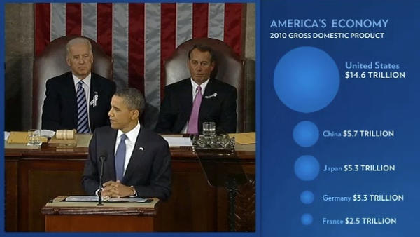 """A screen grab from last year's """"enhanced State of the Union,"""" which is also available Tuesday on WhiteHouse.gov."""