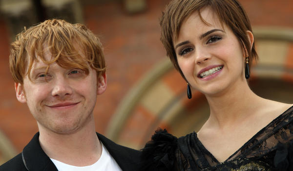 <strong>Say it Ain't So!</strong> <em>Harry Potter</em> author J.K. Rowling now says that beloved characters Ron Weasley and Hermione Granger, played by Rupert Grint and Emma Watson (seen in 2011), shouldn't have wound up together.