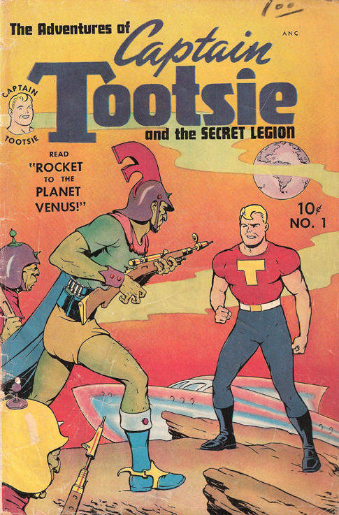 <em>Captain Tootsie</em> was created in the 1940s to promote Tootsie Rolls and RC Cola.