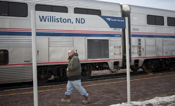 Amtrak trains on the Empire Builder route, which stops in Williston, N.D., have been facing long delays.