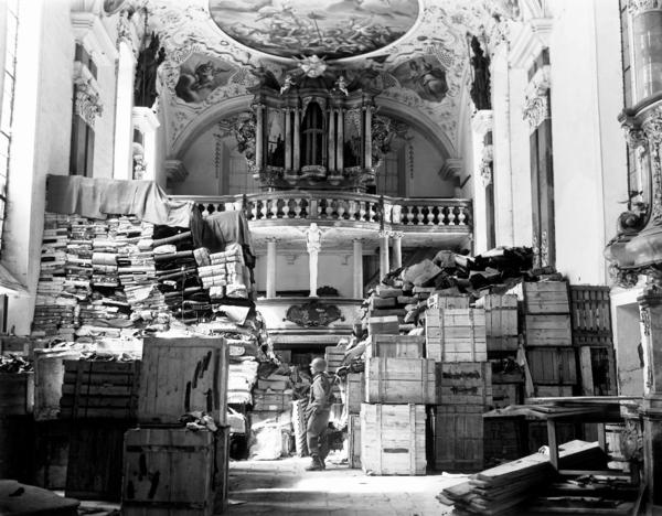 "The Nazis used everything from mines to palaces to churches — like this one in the city of Ellingen --€"" to stash everything from stolen art to the regime's records."