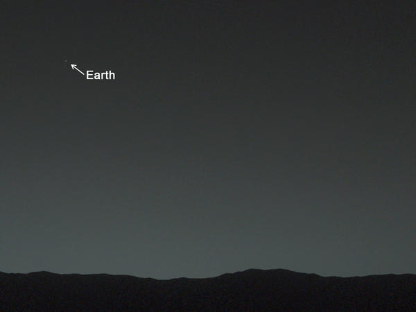 There it is. NASA adds a pointer to Earth.
