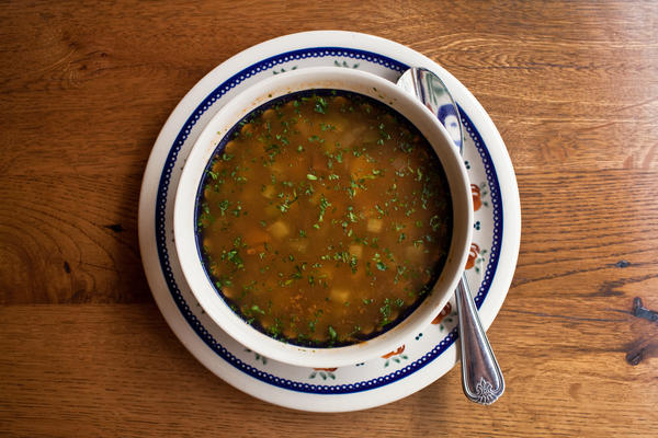 <p>Your Russian grandmother might have made you rassolnik, a mushroom soup made piquant with dill pickles.</p><p></p>