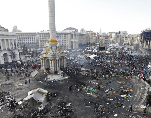 Kiev's Independence Square on Thursday (Feb. 20, 2014).