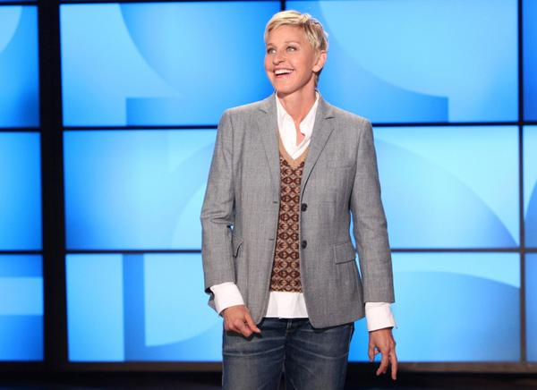 Ellen DeGeneres during a taping of The Ellen DeGeneres Show in 2011. (Michael Rozman/Warner Bros.)