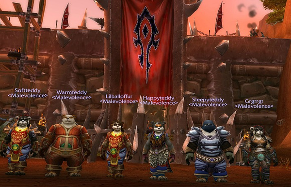 "The Pandaren are a fairly new race in <em>WoW</em> — ""giant pandas that belong to clans with Chinese-sounding names and lands filled with 'Asian' architecture,"" as one person told us — and they show how real-world racial notions creep into the game's universe."