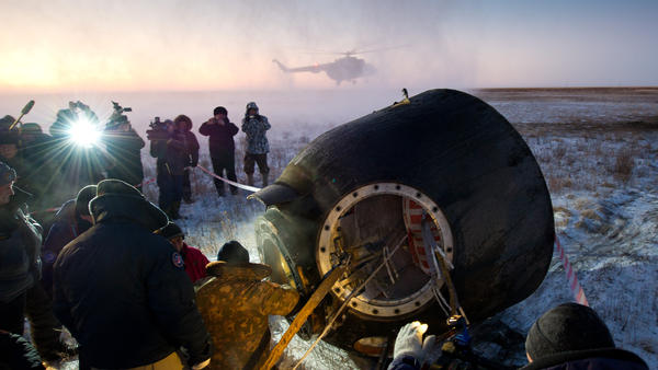Russian personnel are the first to meet space station crew members when they return to earth.