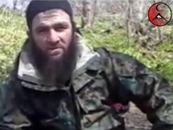 An undated video image of Doku Umarov, taken from files made available by IntelCenter.