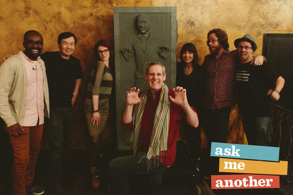 The<em> Ask Me Another </em>staff meets Han Solo frozen in carbonite.