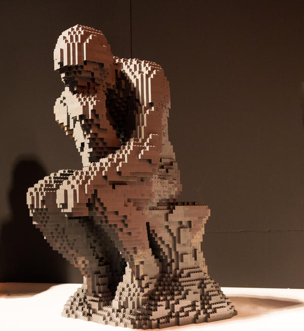 <em>The Thinker </em>by artist Nathan Sawaya.