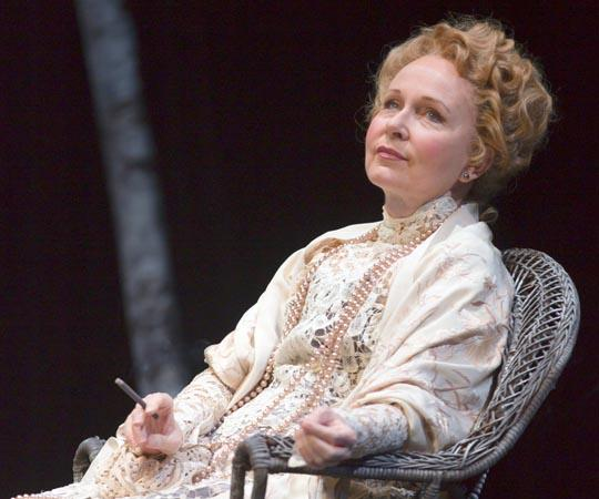 "Kate Burton in the role of Irina Arkadina in the Huntington Theatre Company's production of Anton Chekhov's ""The Seagull."" (T. Charles Erickson)"