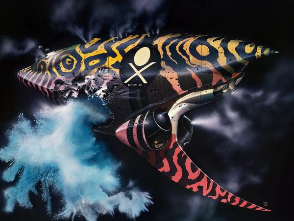 Artwork created for <em>Dune </em>by British science fiction artist Chris Foss.