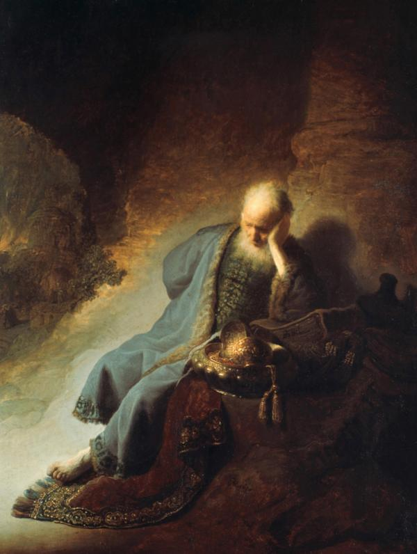 <em>Jeremiah Lamenting the Destruction of Jerusalem</em>, 1630, Rembrandt