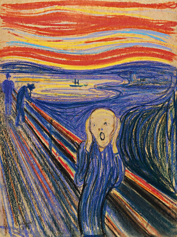 <em>The Scream</em>, 1895, Edvard Munch.