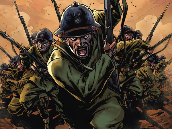 <em>The Harlem Hellfighters</em>, a new graphic novel by Max Brooks, retells the story of the first African-American unit to fight in World War I.