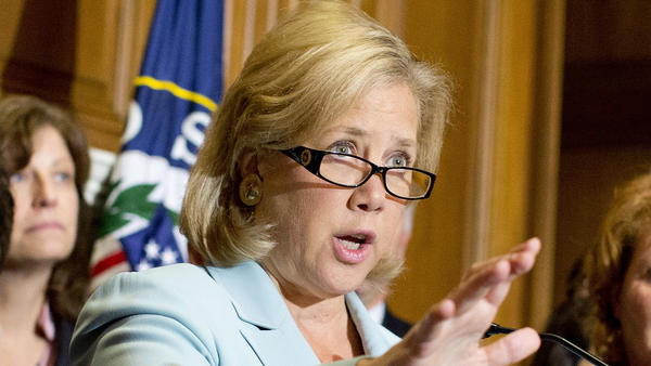 Sen. Mary Landrieu, D-La., speaks at an Oct. 2013 news conference on Capitol Hill in Washington. Landrieu's support for the Affordable Care Act is center stage in her campaign for a fourth Senate term.