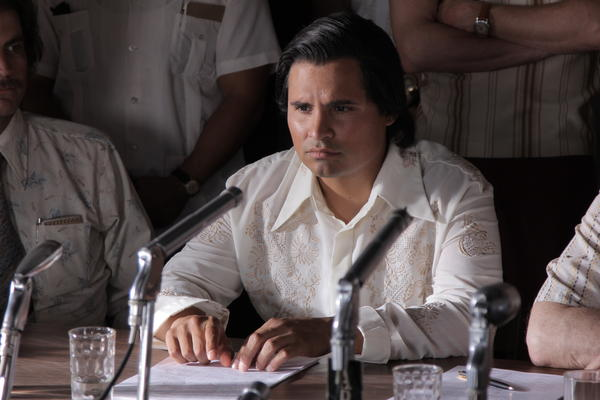 Michael Peña plays Cesar Chavez in the film about the activist.