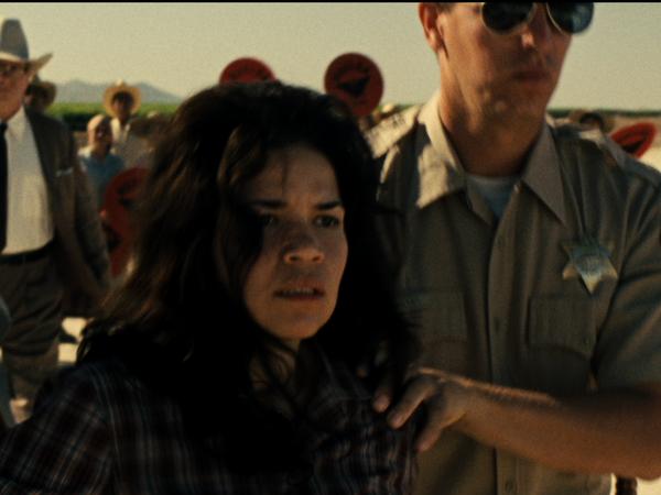 America Ferrera plays Helen Chavez, who in the film gets arrested for screaming <em>Huelga</em> (strike).