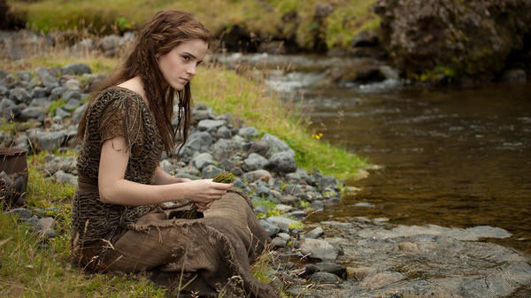 Ila (Emma Watson) and her husband, Shem, are two passengers aboard the ark built by Noah to escape God's flood in <em>Noah,</em> Darren Aronofsky's imagining of the biblical tale.