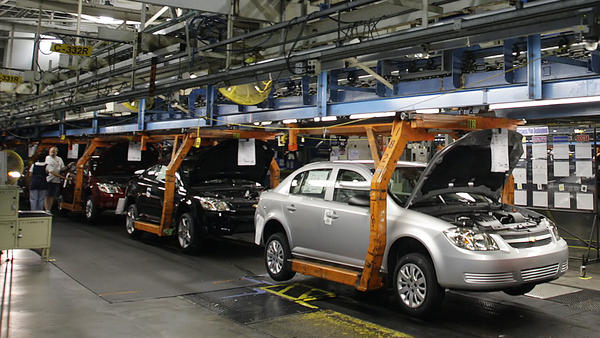 Chevy Cobalts on the assembly line in Ohio in 2008. Documents show General Motors was aware of problems with the car's ignition switch years before, but failed to act.