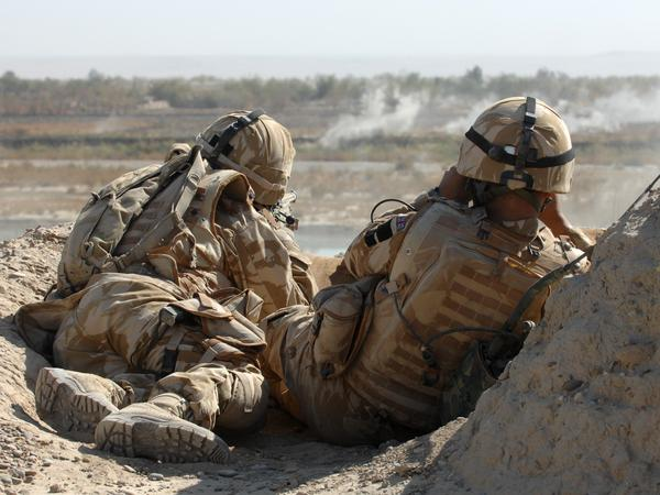 British Army Gurkha snipers in Helmand province, Afghanistan, in November 2007.