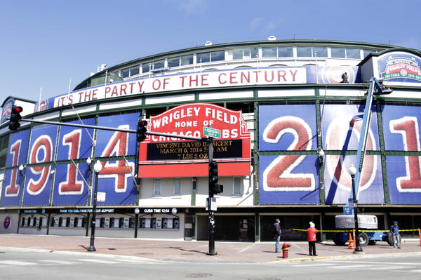 Wrigley Field celebrates its 100th anniversary.