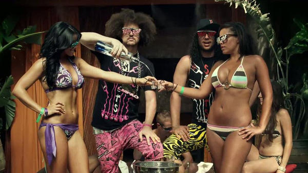 "Shots, shots, shots, shots! Redfoo and Sky Blu keep the Ciroc vodka flowing in the music video for their party anthem ""Shots."""