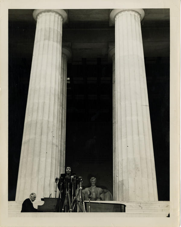 The Lincoln Memorial's tall columns perfectly framed Anderson's majestic voice — a voice conductor Arturo Toscanini said only came around once in a century.