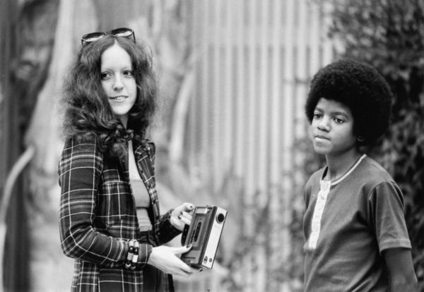 Lisa Robinson interviews a young Michael Jackson at his family's house in Encino, Calif., in October 1972.