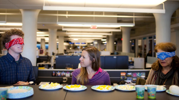 NPR staff members blindly taste test quail, goose, chicken and duck eggs.